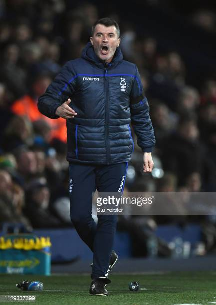 Notts Forest assistant Roy Keane reacts on the touchline during the Sky Bet Championship EPL match between West Bromwich Albion and Nottingham Forest...