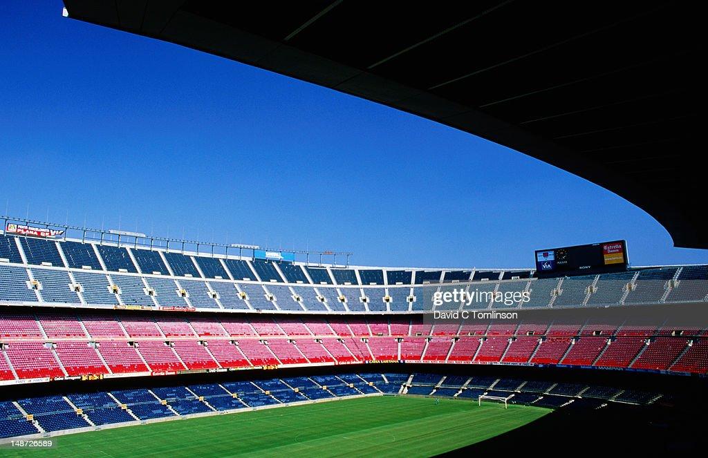 Nou Camp stadium. : Stock Photo