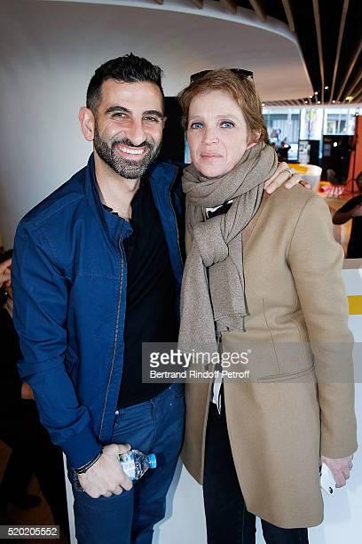 Nouchi Tabib aka Kheiron and Ariane Toscan Du Plantier attend Les Malheurs de Sophie Paris Premiere At Pathe Grenelle on April 10 2016 in Paris France