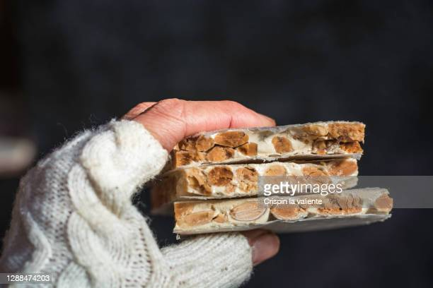 nougat, christmas tradition - nougat stock pictures, royalty-free photos & images