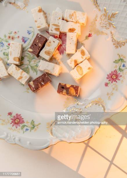 nougat - nougat stock pictures, royalty-free photos & images