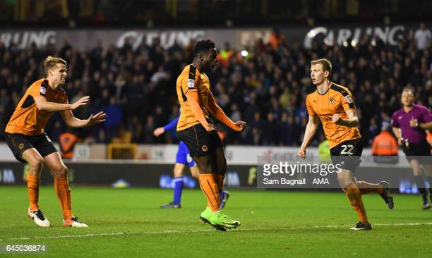 Nouha Dicko of Wolverhampton Wanderers celebrates after scoring a goal to make it 12 during the Sky Bet Championship match between Wolverhampton...