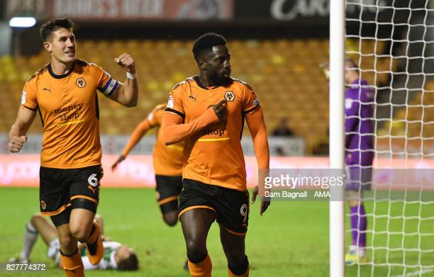 Nouha Dicko of Wolverhampton Wanderers celebrates after scoring a goal to make it 10olverhampton Wanderers and Yeovil Town at Molineux on August 8...
