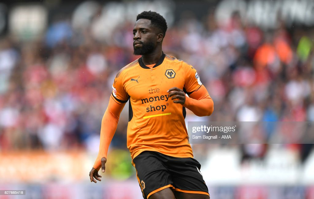 Nouha Dicko of Wolverhampton Wanderers during the Sky Bet Championship match between Wolverhampton and Middlesbrough at Molineux on August 5, 2017 in Wolverhampton, England.