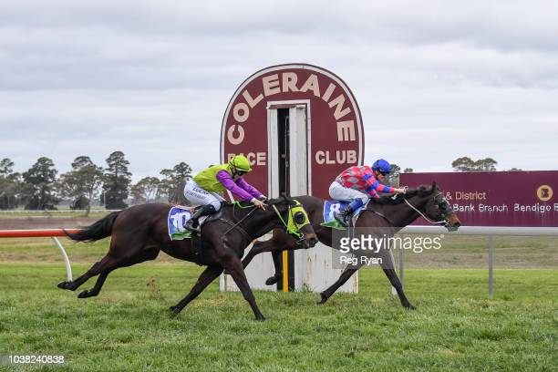 Noumea ridden by Jason Benbow wins the Bet365 Coleraine Cup at Coleraine Racecourse on September 23 2018 in Coleraine Australia