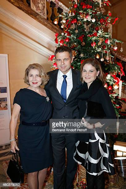 Nour Gorani Christian Streib and Hala Gorani attend The Children for Peace Gala at Cercle Interallie on December 12 2014 in Paris France