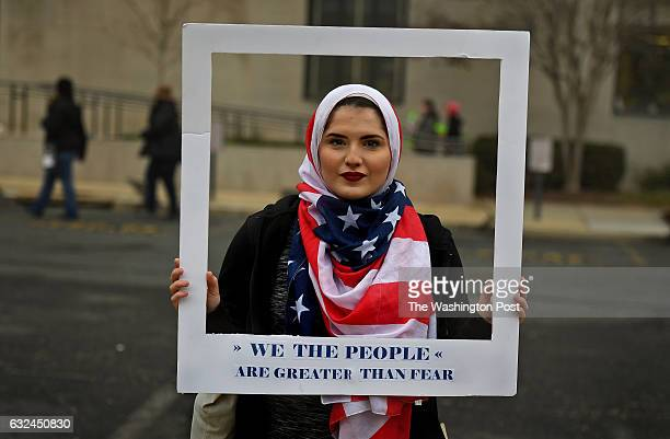 Nour Obeidallah of New York had fun with the fact that friends thought she resembled the face in a popular women's movement poster She made a frame...