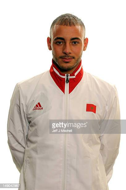 Noureddine Amrabat poses during the Morocco Men's Official Olympic Football Team Portraits on July 22 2012 in Glasgow Scotland