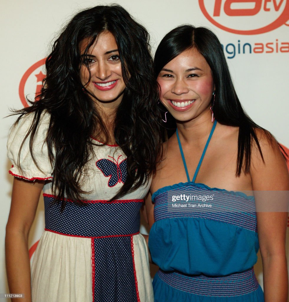 Noureen Dewulf and Camille Mana during ImaginAsian TV and AFI Fest Sway Celebration - Arrivals at AFI Rooftop Village at Arclight Theaters in Los Angeles, California, United States.