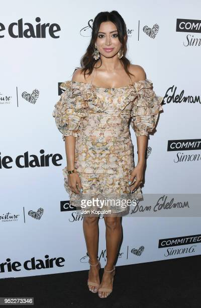 Noureen DeWulf attends Marie Claire's 5th Annual 'Fresh Faces' at Poppy on April 27 2018 in Los Angeles California