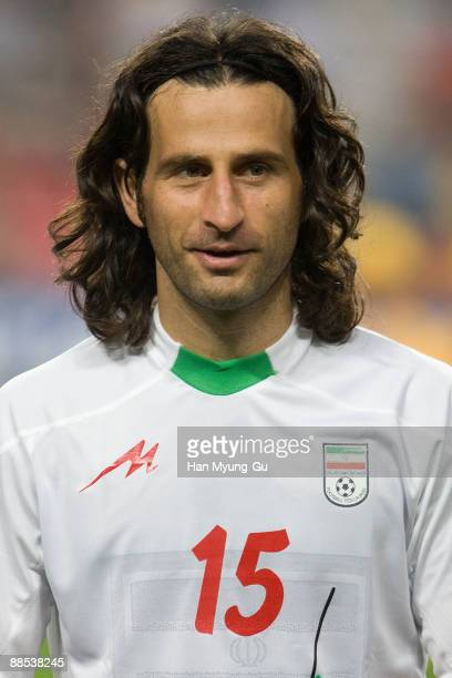 Nouri Pejman of Iran looks on prior to the 2010 FIFA World Cup Asian Qualifiers match between Iran and South Korea at Seoul World Cup Stadium on June...