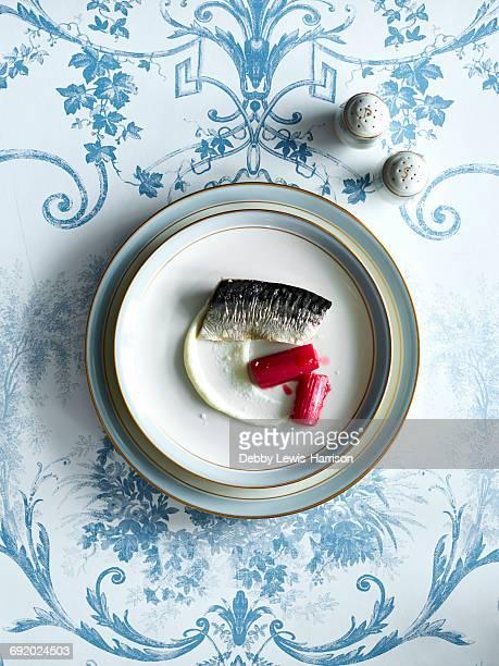Nouvelle cuisine fish dish