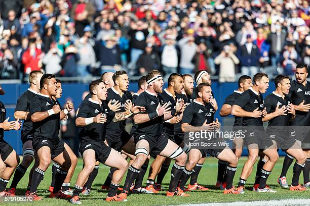 Traditional All Blacks haka before the AIG presented test match between the USA Eagles and the New Zealand All Blacks at Soldier Field in Chicago IL...