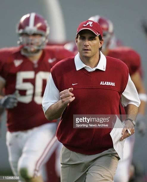 Nov 12 2005 Tuscaloosa AL USA NCAA FOOTBALL Alabama coach Mike Shula The Louisiana State University Tigers against the Alabama Crimson Tide Nov 12...