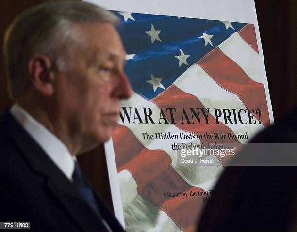 House Majority Leader Steny H Hoyer DMd during a news conference releasing the Joint Economic Committee's report on the cost of the Iraq war The...