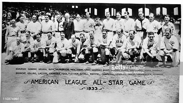 Nov 15 2007 Chicago Illinois USA Group photo of players in the American League AllStar game in 1933