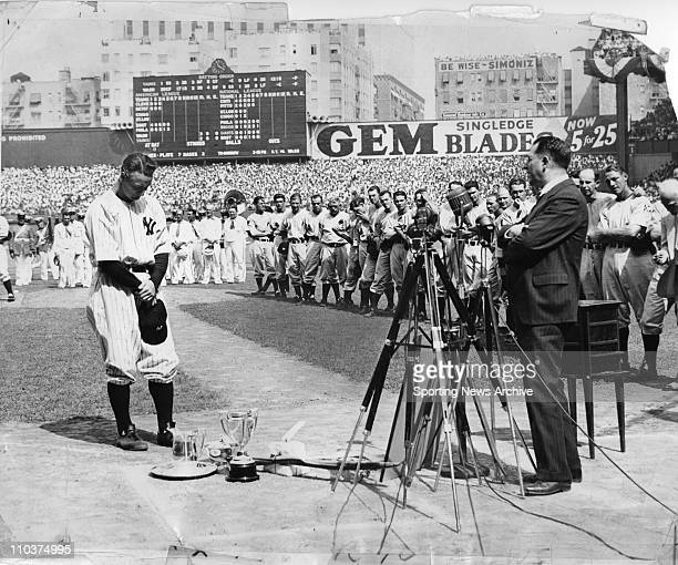 Nov 15 2007 New York NY USA LOU GEHRIG July 4 'Lou Gehrig Appreciation Day' at Yankee Stadium Often referred to as the 'The Luckiest Man on the Face...