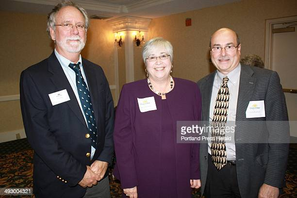 Don Burke, of Day One, Patricia Kimball, executive director of Wellspring, and Charlie Kimball. Staff photo
