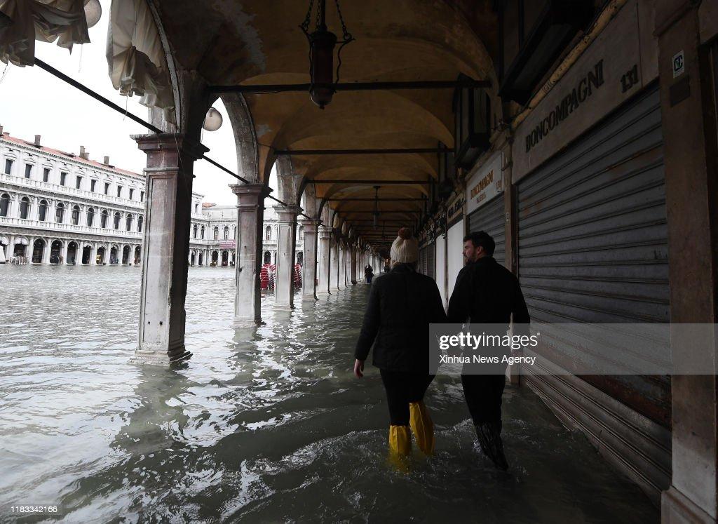ITALY-VENICE-FLOOD : News Photo