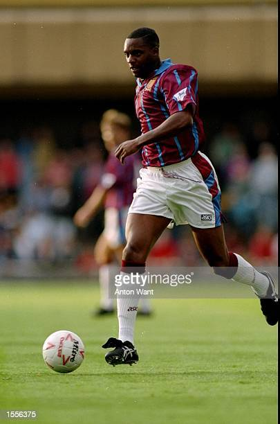 Dalian Atkinson of Aston Villa in action during a match Mandatory Credit Anton Want/Allsport