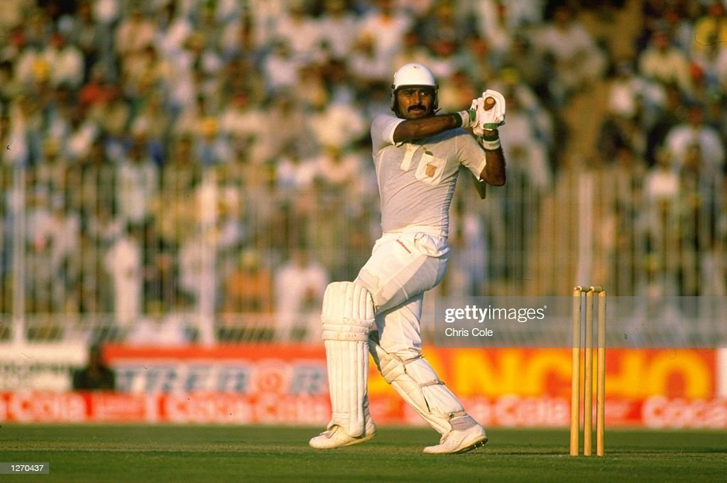 Javed Miandad of Pakistan : News Photo