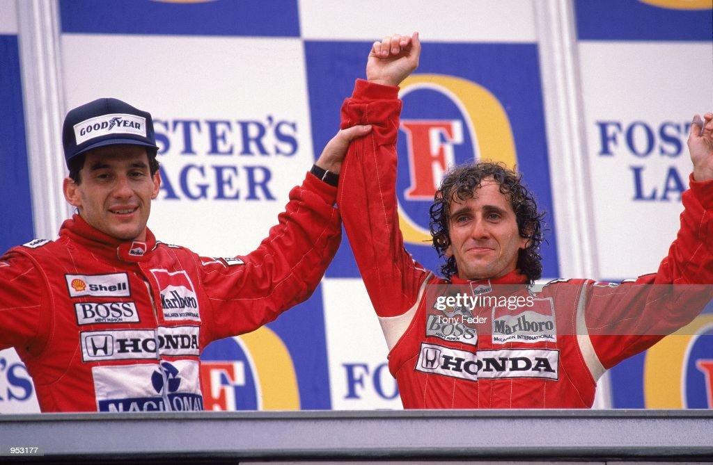 Alain Prost, Ayrton Senna : News Photo