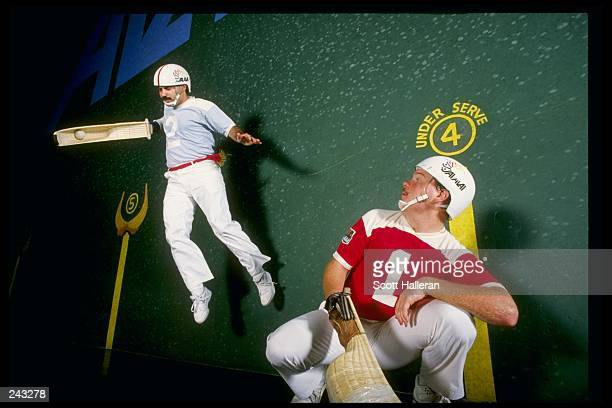 General view of the action during a jai alai game in Tampa Florida Mandatory Credit Scott Halleran /Allsport