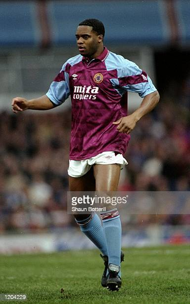 Dalian Atkinson of Aston Villa in action during a match Mandatory Credit Shaun Botterill/Allsport