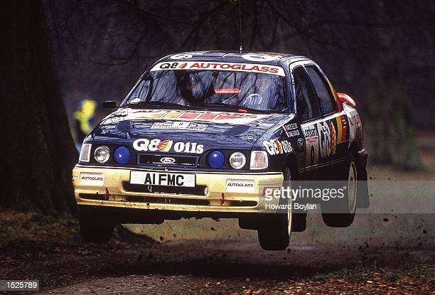 Francois Delecour of France in action in his Ford during the RAC Rally of Great Britain Mandatory Credit Howard Boylan /Allsport