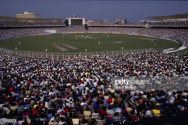 General view of the 1st one day International between India and South Africa at Calcutta watched by a record 95000 crowd