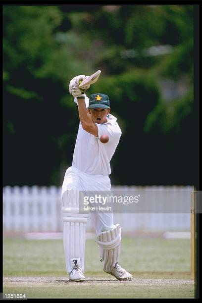 Andy Flower of Zimbabwe during his innings of 81 in the first test against New Zealand in Bulawayo Mandatory Credit Mike Hewitt/Allsport