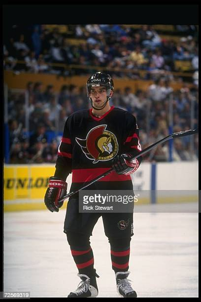Center Alexandre Daigle of the Ottawa Senators looks on during a game against the Buffalo Sabres at Memorial Auditorium in Buffalo New York Mandatory...