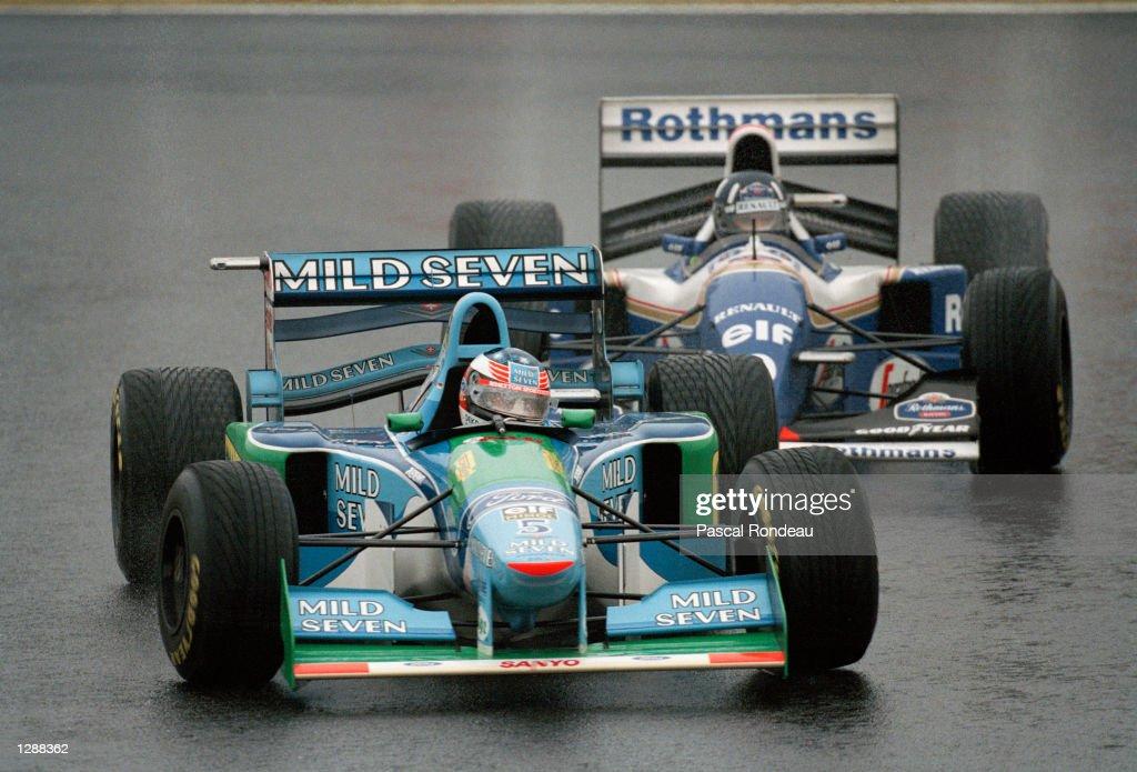 Damon Hill and Michael Schumacher : News Photo
