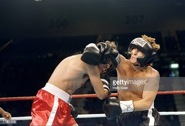 General view of a bout between Danny Bonaduce and Rick Kirkham in Las Vegas Nevada Bonaduce won the fight in the third round Mandatory Credit Holly...