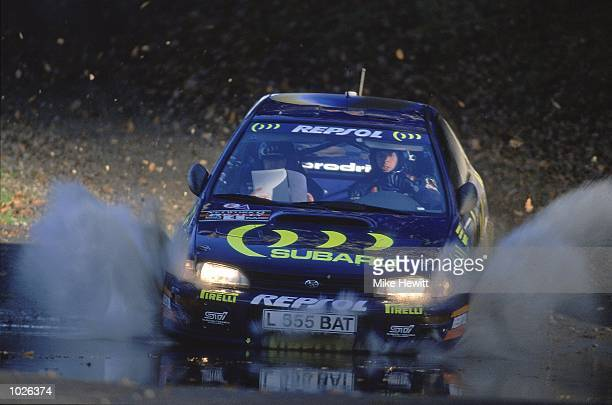 Colin McRae in action in his Subaru during the Network Q RAC Rally of Great Britain Mandatory Credit Mike Hewitt /Allsport