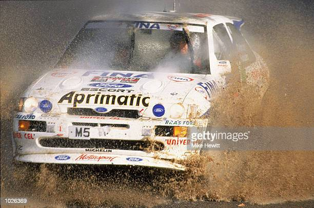 Francois Delecour of France in action during the Network Q RAC Rally of Great Britain Mandatory Credit Mike Hewitt /Allsport