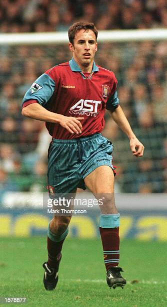 Gareth Southgate in action for Aston Villa against Manchester City in the Premier League match at Maine Road. Manchester City won 1-0. Mandatory...