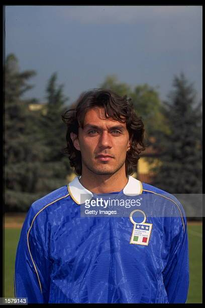 Portrait of Paolo Maldini of Italy
