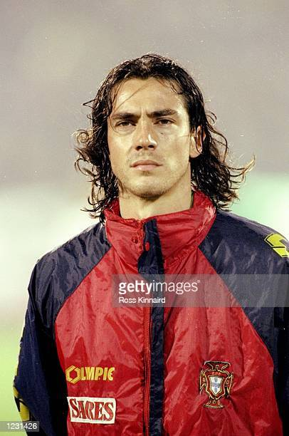 Portrait of Paulo Sousa of Portugal before a Euro 96 qualifying match against the Republic of Ireland in Lisbon Portugal Portugal won the match 30...