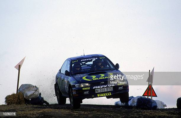 Richard Burns in action in his Subaru Impreza during the Network Q RAC Rally of Great Britain Mandatory Credit Mike Hewitt /Allsport