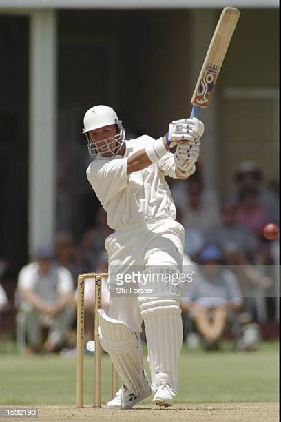 Alec Stewart of England in action batting during the England tour match against the Presidents XI in Zimbabwe Mandatory Credit Stu Forster/Allsport
