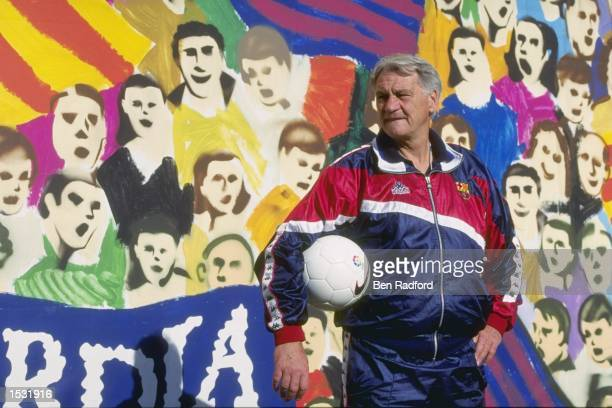 Bobby Robson the exEngland manager now manager of the Spanish club side Barcelona Pictured here at the the clubs training ground in Barcelona during...