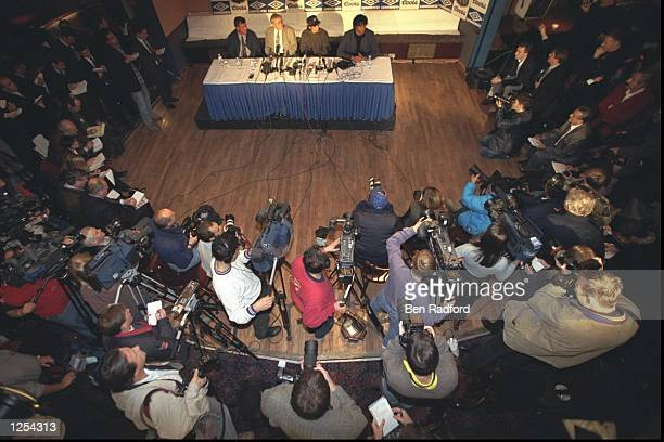 Chelsea new signing Gianfranco Zola during the press conference at his new club at Stamford Bridge in London Mandatory Credit Ben Radford/Allsport