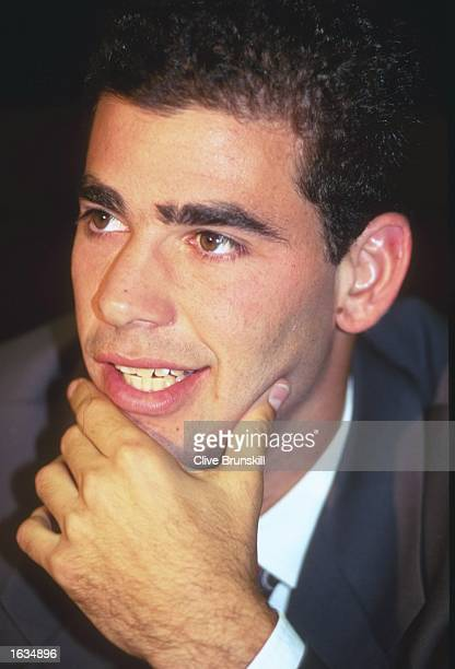 Portrait of Pete Sampras of the USA during the ATP World Championships Expo 2000 in Hannover, Germany. \ Mandatory Credit: Clive Brunskill/Allsport