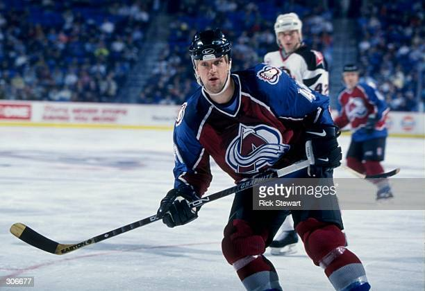 Right wing Scott Young of the Colorado Avalanche in action during a game against the Buffalo Sabres at the Marine Midland Arena in Buffalo New York...