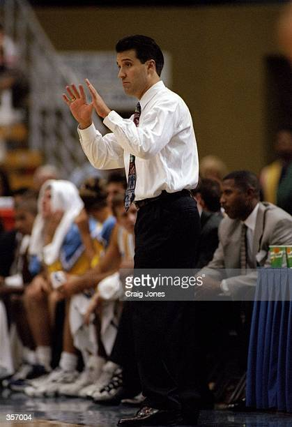 UCLA Bruins head coach Steve Lavin looks on during a game against Athletes in Action at Pauley Pavilion in Los Angeles California UCLA won the game...