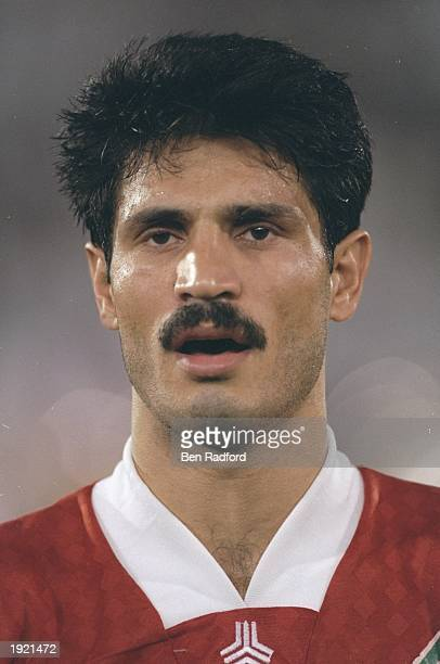 A portrait of Ali Daei of Iran before the World Cup qualifier match against Qatar in Doha Qata Qata won the match 20 Mandatory Credit Ben Radford...