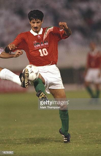 Ali Daei of Iran in action during the World Cup qualifier match against Qatar in Doha Qata Qata won the match 20 Mandatory Credit Mark Thompson...