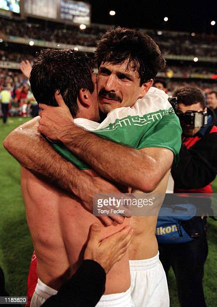 Ali Daei of Iran is emotional after Iran defeated Australia in the second leg of the World cup Qualifier between Australia and Iran played at the MCG...