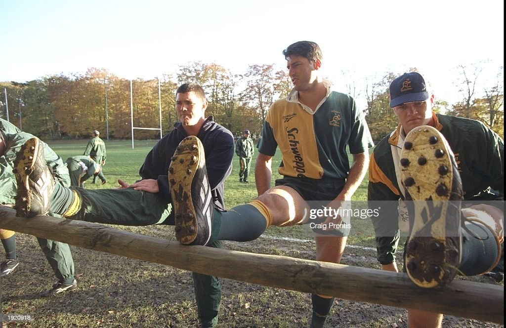 Daniel Herbert, John Eales and Richard Harry : News Photo